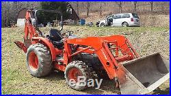 Kubota Tractor 4X4 L3130, with Backhoe