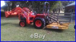 Kubota Tractor L2800Dt-F 4Wd With Loader Auger Bush Hog Seeder