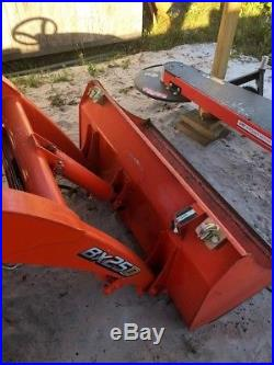 Kubota bx25d 2017 w, backhoe, loader, and mower. Low hours and running perfect
