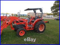 L3130HST Kubota 4WD Tractor with Loader and Bushhog