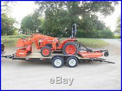 L3200 Kubota 4wd Tractor/Loader/ NEW Trailer/ BushHog/ Boxblade/Tiedowns