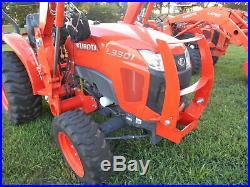 L3301 Kubota 4wd HST Tractor/Loader/ NEW Trailer/ BushHog/ Boxblade/Tiedowns