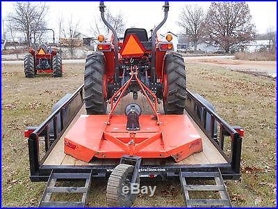L3400HST Kubota 4WD Tractor/Trailer/Bush Hog/Boxblade