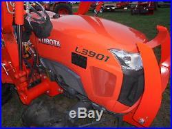 L3901D Kubota 4wd Tractor/Loader/New Trailer/ Bush hog/ New Boxblade/Tiedowns