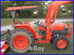 L4400D Kubota 4wd Tractor/Loader/ NEW Trailer/ NEW BushHog/ NEW Boxblade