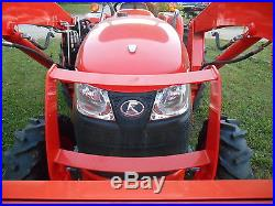 L4600D Kubota 4wd Tractor Loader/New Trailer, Bush Hog and Box Blade