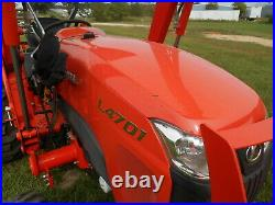 L4701D Kubota 4wd Tractor/Loader/ NEW Trailer/ New BushHog and Boxblade/Tiedowns