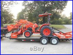L4701 Kubota 4wd Tractor/Loader/ NEW Trailer/ BushHog/ Boxblade/Tiedowns