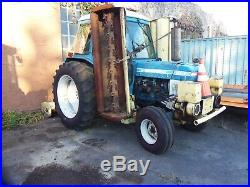 L@@k FORD 6610 TRACTOR WITH THREE MOTT MOWERS AND AC