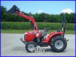 MASSEY FERGUSON BACKHOE + 1200 LB LOADER 4WD 1726E 1726EL WOODS BH75 no DPF
