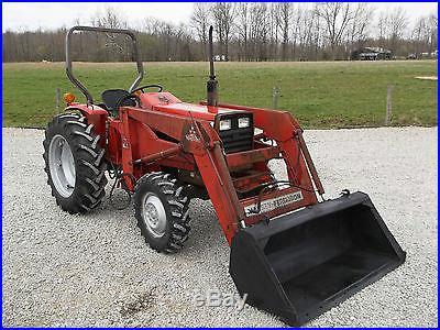 Massey Ferguson 1045 Tractor & MF Front Hydraulic Loader Diesel -4x4