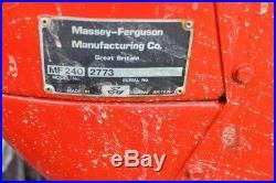 Massey Ferguson 240 Good tractor! Remote hydr
