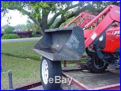 Massey ferguson 4 wheel drive, loader and backhoe tractor