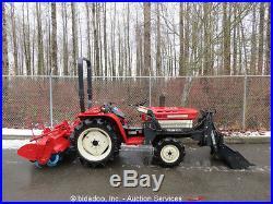 Mitsubishi MT185 Farm Tractor 4WD 3Spd Diesel PTO Ag 53 Rear Tiller 40 Loader
