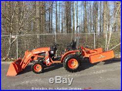 NEW 2016 Kubota B2601HSD Compact Loader Tractor 3-PT Hitch PTO Scraper