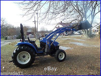 NEW HOLLAND TC45 LOADER LANDSCAPE TRACTOR 4x4 BOB CAT DIESEL 4 WHEEL DRIVE