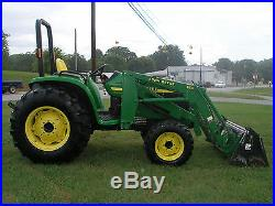 NICE JOHN DEERE 4500 4 X 4 LOADER TRACTOR WITH A 4 IN 1 BUCKET