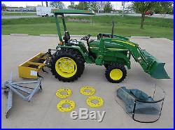 NICE! John Deere 790 30hp Diesel 4X4 Tractor With Loader & Attachments Low Hours