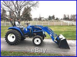 New Holland TC33DA Deluxe Diesel Tractor, 33HP, 4x4, Hydro, 14 LA Loader, 142Hrs