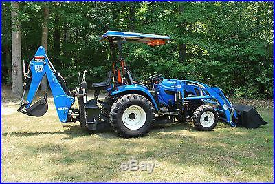 New Holland TC-33DA 4x4 Diesel Tractor wLoader and Backhoe