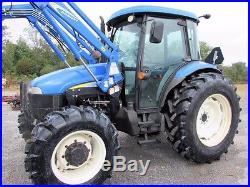 New Holland TD5050 Diesel Farm Tractor 4X4 Cab & Loader
