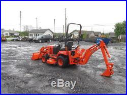 Nice 2007 Kubota BX24 4x4 Hydro Tractor Loader Backhoe withMower