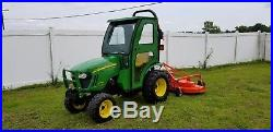 Nice! John Deere 2320 Diesel Hydrostatic tractor with Cab, and 72 MOWER + BlA
