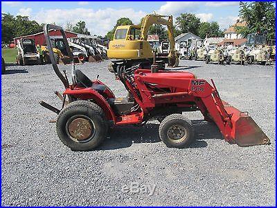 Nice Massey Ferguson 1010 Hydro 4x4 Compact Tractor w/ Loader