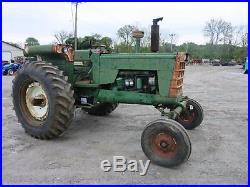 Oliver 1950 Tractor, Wide Front, Fuel Tank Fenders, Diesel, 110 HP Diesel