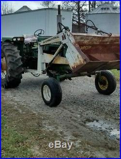 Oliver 1850 diesel tractor with front end loader