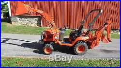 Very Nice 2009 Kubota Bx24 Compact Tractor Loader Backhoe 4x4 Diesel Low Hours