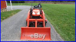 VERY NICE 2011 KUBOTA BX1860 4X4 COMPACT TRACTOR LOADER & BELLY MOWER 212 HOURS