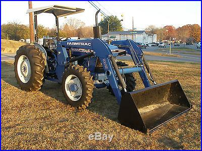 VERY NICE FARMTRAC 555 DTC 4WD DIESEL LOADER TRACTOR ONLY 100 HOURS