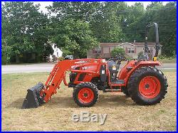 VERY NICE KIOTI DS4110 4 X 4 LOADER TRACTOR ONLY 190 HOURS