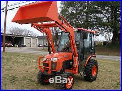 Very Nice Kubota B3030 4x4 Cab Loader Tractor