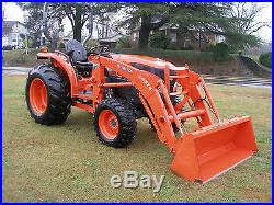 VERY NICE KUBOTA L 3240 4 X 4 LOADER TRACTOR ONLY 349 HOURS