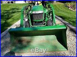 Very Nice 2007 John Deere 2305 4X4 Loader Mower Tractor with Only 589 Hours