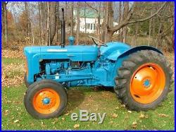 Vintage 1958 Fordson Dexta Tractor with bucket & scraper blade, Diesel