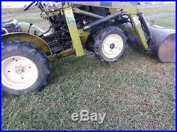 Yanmar YM155D tractor loader 4x4 15 hp diesel gear Woods 48 finish mower used